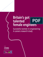 Britain's Got Talented Female Engineers (Atkins, 2013)