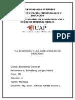 La Economia y Las Estructuras de Mercado