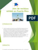La Gestión de Residuos Sólidos en Puerto Rico