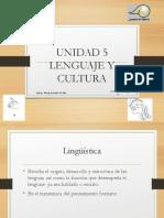 Unidad v Lenguaje y Cultura Mayo 2015