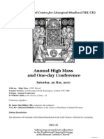 Flyer for 2010 Annual Pontifical High Mass Conference_2