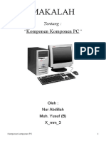 MAKALAH KOMPONEN PC