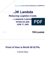 Interlog Summer Presentation TDK Lambda