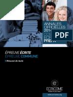 Annale Ecricome Prepa 2014eaz Resume