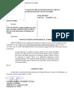 Supreme Court Case - Notice of Supplemental Filing