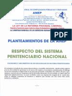 Planteamiento de la Seccional ANEP-Policia Penitenciaria Ante Comision de Seguridad y Narcotráfico