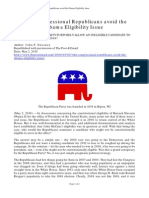 John F Sweeney - Why Congressional Republicans Avoid