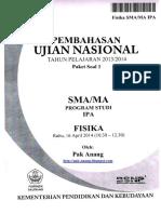 Pembahasan Soal UN Fisika SMA 2014 Paket 1 (Full Version)