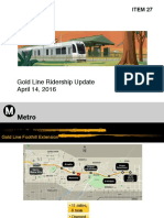 Gold Line Ext ridership & survey report