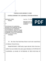 USDC - Dkt 12 - Fine's Request for Entry of Default Against State Bar Defendants - Fine v State Bar II - 10-cv-0048