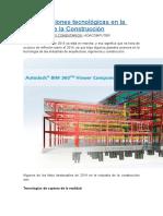 10 Innovaciones Tecnológicas en La Industria de La Construcción