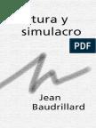 Cultura y simulacro de Jean Baudrillard