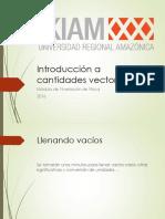 Introducción a Cantidades Vectoriales