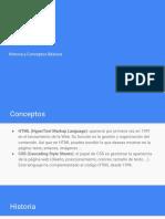 1 - HTML, Conceptos Basicos