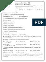 36421416 Lista de Exercicios 03 Operacoes Matematicas Sexto Ano