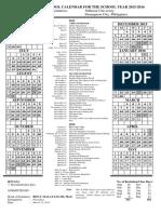 Collegiate Calendar 2015 2016