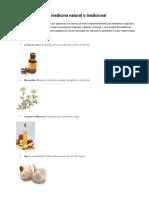 10 Medicina Natural y 10 Medicina Quimica