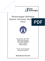 Perancangan Software Sistem Informasi Akademik Ftui