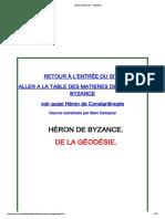 Héron de Byzance - Géodésie