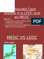 earthquake case studies in a ledc medc copy