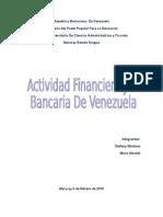 actividad financiera y bancaria de venezuela