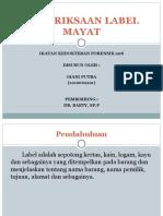 Pemeriksaan Label Mayat