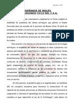 ENSEÑANZA DE INGLÉS EN EL SEGUNDO CICLO
