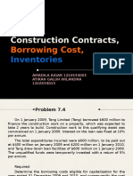 construction contracts, borrowing cost, inventories