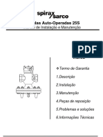 VáLvulas Auto-Operadas 25S-Installation Maintenance Manual