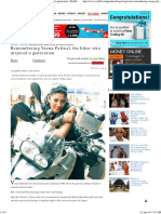 Remembering Veenu Paliwal, The Biker Who Inspired a Generation - Rediff