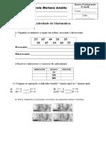 Atividade Avaliativa de Matematica Parte Pratica
