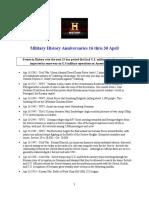 Military History Anniversaries 0416 Thru 043016