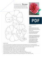 papiroflexia facil rosa de papel
