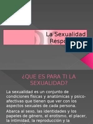 para ti que es la sexualidad