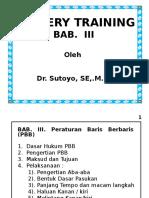 Militery Training PWR (BAB-III)