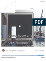 Cómo Hacer Una Instalación Limpia de OSX Yosemite