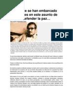 Conferencia de Estanislao Zuleta. SOBRE LA PAZ