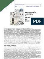Sísmica de Pozo y Prospeccion Acustica