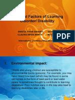 External Factor of Learning Disorder