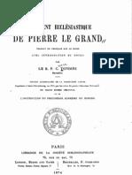 Reglement ecclesiastique de Pierre le Grand