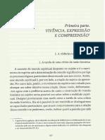DILHEY, Vivencia-compreensão