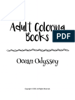 Adult Coloring Books Ocean Odyssey