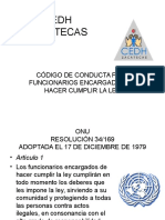 CO-DIGO DE CONDUCTA PARA ENCARGADOS DE HACER CUMPLIR LA LEY..ppt
