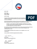 Cook County Republican Party Letter