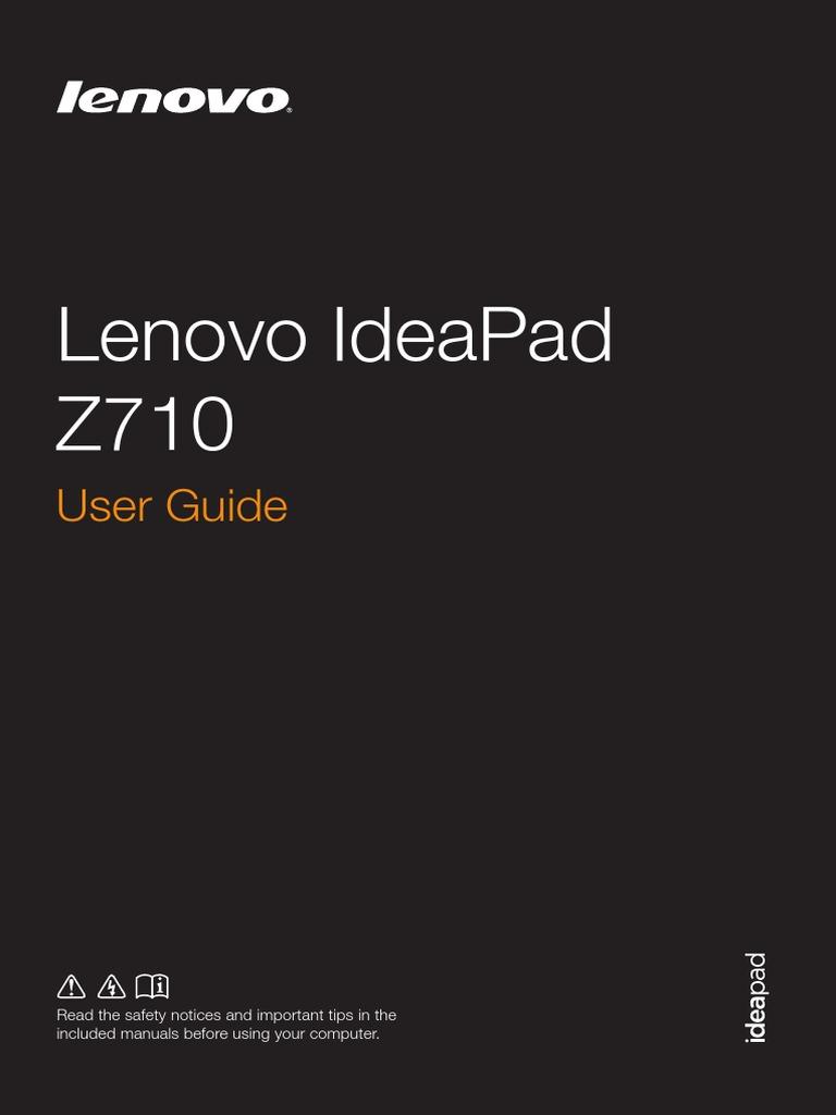 Lenovo Z710 User Guide
