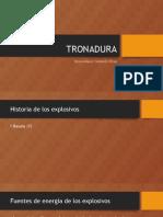 CLASE TRONADURA TIPOS DE EXPLOSIVOS