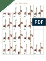 Dedilhado - Flauta Doce Barroca - Dó e Fá