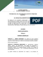 Acuerdo 028 2012-Bello