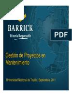 8. Gestión de Proyectos en Mantenimiento Lagunas Norte - Marco Castillo - MBM