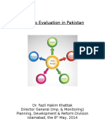 Projects Evaluation in Pakistan
